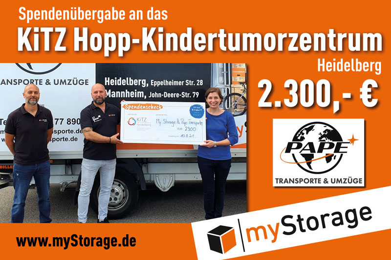 Spendenuebergabe KiTZ-Hopp-Kindertumorzentrum